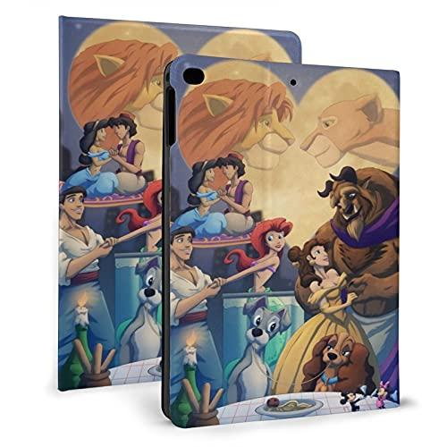 Topolino Aladdin Little Mermaid Beauty Beast Lion King Pad 7.9 Caso 4/5 Cover, Pelle PU Smart antiurto Shell Stand Slim con Auto Sleep/Wake Case.
