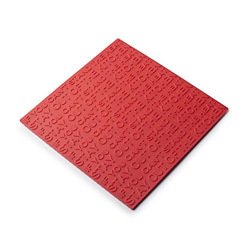 Zeal résistant à la Chaleur Dessous de Plat antidérapant Pot Rest, Silicone, Rouge, 19.4 x 19.4 x 19.4 cm