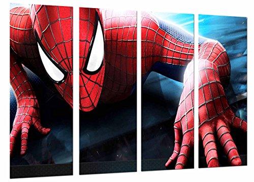 Cuadro Camaras Fotográfico Spiderman, superheroe, hombre araña Tamaño total: 131 x 62 cm XXL, Multicolor
