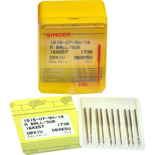 Commercial Sewing Machine Needles SINGER 1515-07-90/14~16 x 257 1738~10 per pack
