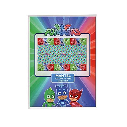 PJ Masks 1120, Pack decoración Fiesta y cumpleaños Compuesto por Mantel de Fiesta...