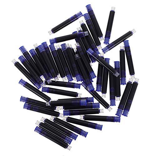 TOYANDONA 100 Unidades de Cartuchos de Tinta para Pluma Estilográfica Cartuchos de Recarga de Tinta de Tamaño Estándar Internacional para Oficina en Casa Azul de Larga Duración