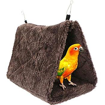 Hamac pour Oiseaux Pivoine Perroquet Nid Jouet pour Oiseaux, lit Suspendu pour Cage en Peluche, Nid d'oiseau, Tente, lit Chaud, Animal de Compagnie d'hiver pour Ara, Perruches, Cacatoès, Canaris.