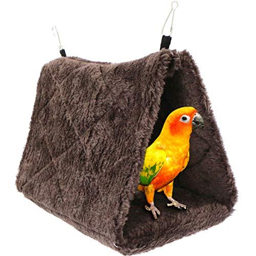 Hamaca Bird Toy Parrot Bed - Cama Colgante para Jaula Nido de pájaro de Felpa Hut Tienda de campaña cálida para Mascotas Casa de Nido de Invierno para guacamayos Budgies Cockatiels Cockatoo Canaries.