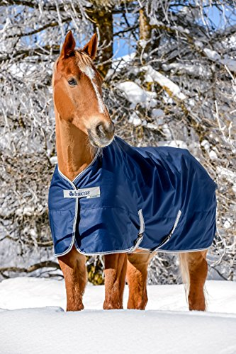 BUCAS Freedom Turnout Pferdedecke Light, navy/silber, 145 cm