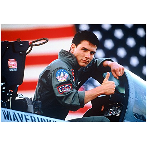 Tom Cruise as Maverick in Top Gun Sitting Giving Thumbs Up 8 x 10 Inch Photo