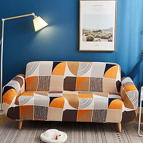 Funda de sofá elástica de Spandex Tight Wrap Fundas de sofá con Todo Incluido para Sala de Estar Funda de sofá seccional Love Seat Patio D6 Loveseat 145-185cm-1pc