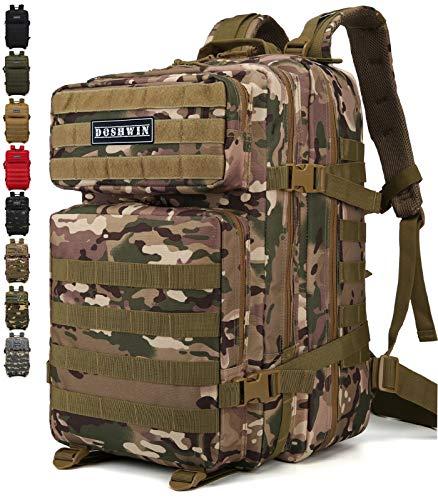 Doshwin 40L Zaino Militare Tattico Molle Assalto da Trekking Escursionismo Viaggio per Donna Uomo (CP)
