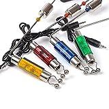 Alarme de touche, détecteurs de touche, échangistes de la carpe, indicateur de morsure lumineuse Composant d'alarme de pêche avec poignée dure 4pcs