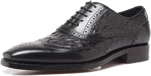 NIUMT Chaussures Chaussures en Cuir Haut De Gamme pour Hommes Haut De Gamme Goodyear Handmade Chaussures à Lacets Tête Ronde Déodorant  expédition rapide à vous