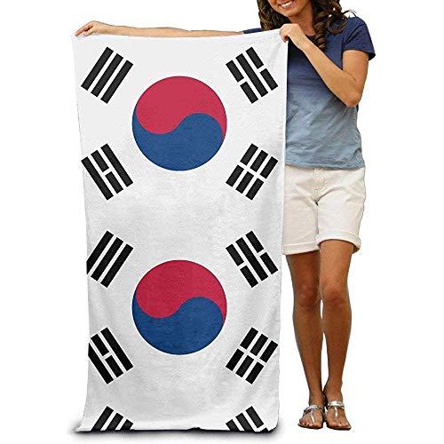 qinzuisp Zwembad handdoek Cap Nieuwe Zuid-Koreaanse Vlag Strand Handdoeken Voor Volwassenen 80X130cm