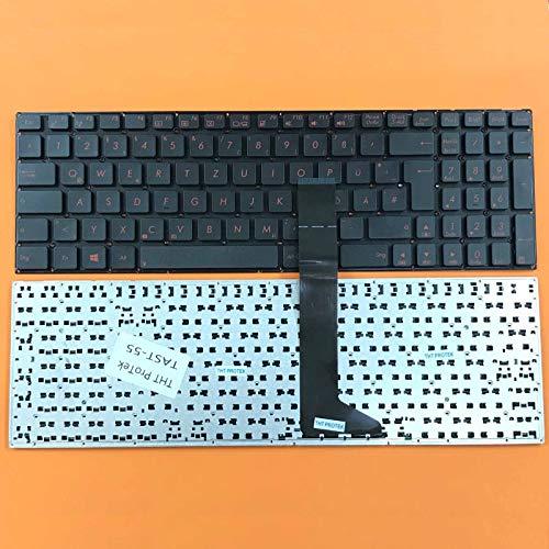 DEUTSCHE - Tastatur Keyboard Rotes Drucken, ohne Rahmen kompatibel für ASUS F751, F751L