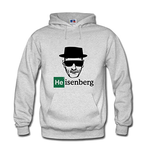 Shirtastic Kapuzenpulli Breaking Hoodie Heisenberg Mr. White Bad Los Pollos Hermanos (XXL, Grau)