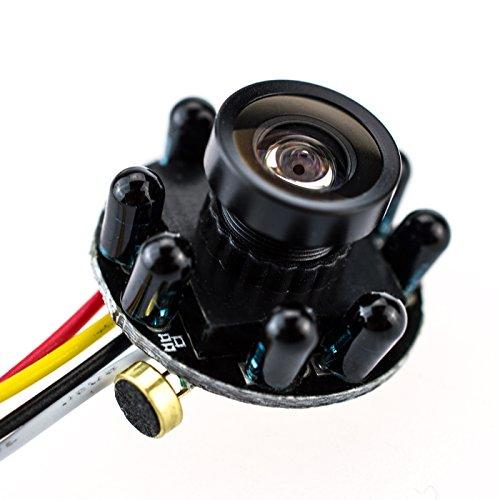 Mini Spionage Kamera 205-IR-WD 5 Mio Pixel Bullet Camera Pinhole Lochkamera, versteckte Kamera, Spy Cam sehr lichtstark Nachtsicht Video und Foto von Kobert-Goods …
