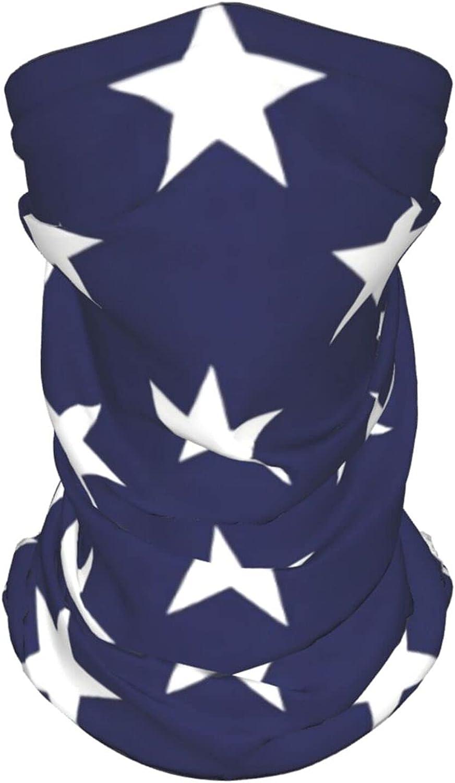 Stars Seamless Pattern Neck Gaiter Multipurpose Headwear Ice Silk Mask Scarf Summer Cool Breathable Outdoor Sport 4 Pcs