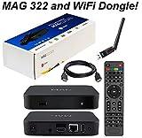 MAG 322 Original Infomir Linux IPTV Set Top Box Multimedia Player Internet TV