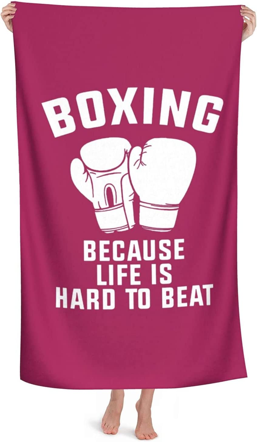 Boxing Because Life is Hard to Elegant Large Bath Max 69% OFF Beach To Beat-1 Towels