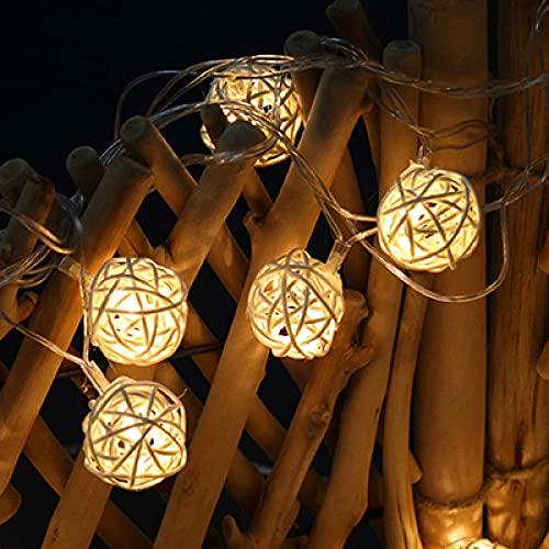 Luces Decorativas Led Luces De Ratán Hechas A Mano Para Bodas Y Decoración De Terrazas Navideñas Con Pilas