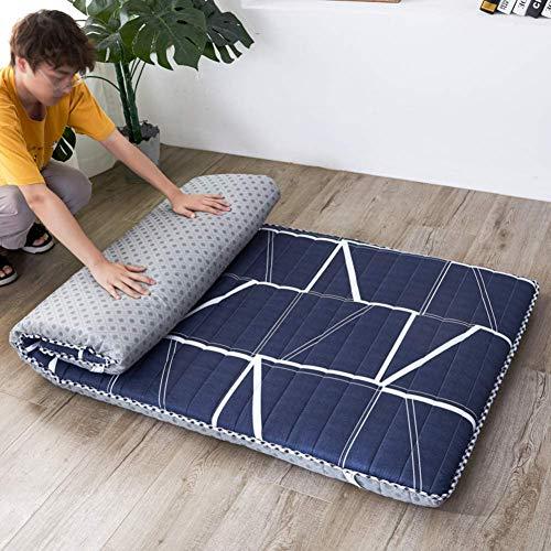 YDYL-LI Tatami Floor Mat,Traditional Japanese Futon Mattress Bed Folding Pad Tatami Mat Dorm Mattress Topper For Family,Hotel,Picnic,Camping Dark Blue 100x200cm(39x79inch)