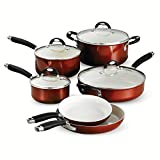 Tramontina 80110/220DS Style Ceramica Cookware Set, 10 Piece, Metallic Copper, Made in Italy