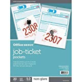 Office Depot Job Ticket Holders, 9in. x 12in, Pack of 20, R179919...