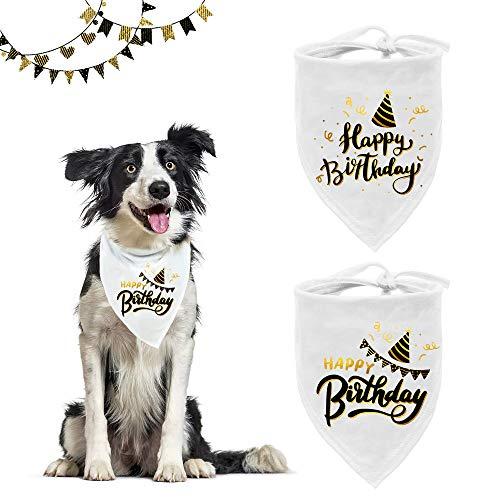 ASOCEA Happy Birthday Dog Bandana Pet Party White Triangolo...