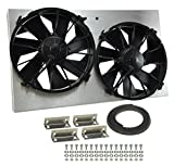 Derale Performance 16825 Gray/Black High Output Dual Radiator Fan