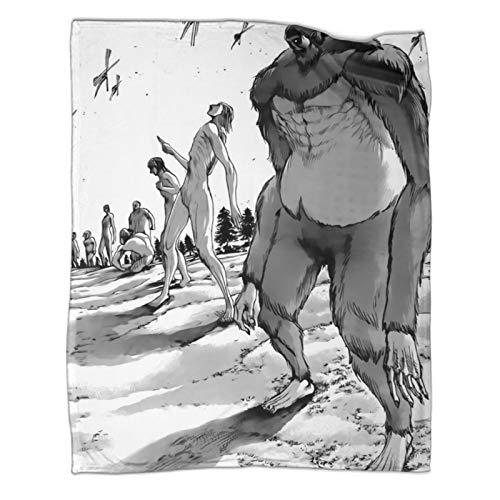 """Xaviera Doherty Doppelseitige Flanelldecke """"Attack on Titan"""", 150 x 200 cm, weiche und bequeme Bettdecke, Kinderbettwäsche"""