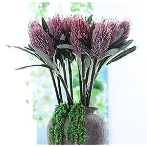 Skyseen 3Pcs Artificial Protea Cynaroides Kniphofia Flower for Floral Arrangements