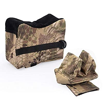 GSRING Rifle Shooting Bag, Front & Rear Bags Sandbags -Unfilled