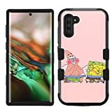for Galaxy Note 10, Hard+Rubber Dual Layer Hybrid Shockproof Rugged Impact Cover Case - Sponge Bob #ZFN
