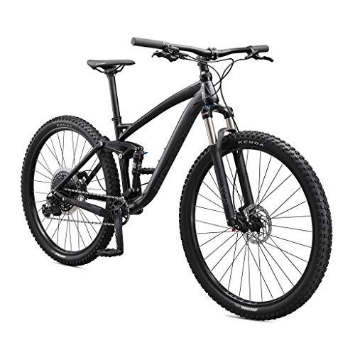 Mongoose Salvo Trail Mountain Bike, 9-Speed, 29-inch Wheel, Mens Small, Black (M22250M10SM-PC)