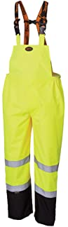 Pioneer Ripstop High Visibility Bib Pant - Safety Rain Gear – Hi Vis, Waterproof, Reflective, Work Overalls for Men – Orange, Yellow/Green