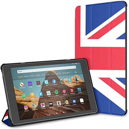 Case For Flag United Kingdom Union Jack Fire Hd 10 Tablet (9th/7th Generation, 2019/2017 Release) NewFireHd10TabletCase CoverForKindleFireHd10 Auto Wake/sleep For 10.1 In