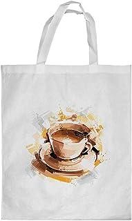 كيس تسوق، بتصميم كوب قهوة ، مقاس صغير