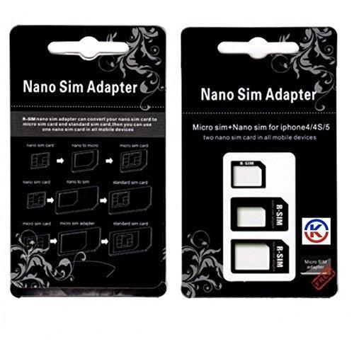 Kgc Doo 88 3 in 1 Adattatore Nano Sim, Nero