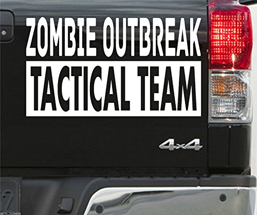 Le grand sticker Zombie Outbreak pour 4x4