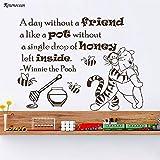 Etiqueta de Vinilo de Pared de Oso Pegatina día sin Amigos Oso Tema decoración de jardín de Infantes Regalo de Regalo Infantil 85.5X63 cm