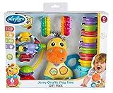 Playgro Coffret Cadeau d'Éveil Girafe Jerry, Jouets pour bébé, 17 pièces, À partir de 6 mois, Sans BPA, Coloré, 40210