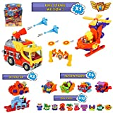 SuperZings Serie 5 – Fire Strike Mission 5 y Pack Sorpresa con 16 Sets | Contiene Blíster Fire Strike, 10 Sobres One Pack, 4 Aerowagons y 2 Skyracers | Juguetes y Regalos para Niños
