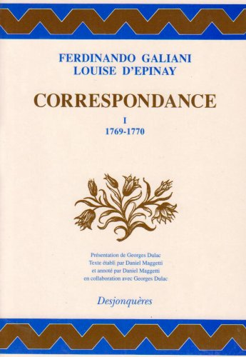 Correspondance, tome 1 : 1769-1770 (DIX-HUITIEME SIECLE)