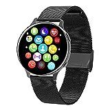 Yumanluo Smartwatch Impermeable,Reloj Elegante de la Llamada de Bluetooth, Pulsera de los Deportes del Control de la Salud-Negro B,Monitores de Actividad,Fitness Tracker
