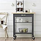 Dorel Living Hogan Multifunction, Gray Kitchen Carts,