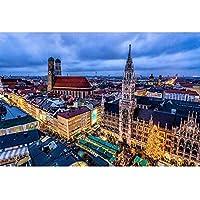 Munich Puzzle 300 500 500 2000 1500 2000 3000 4000 5000大人のための教育的なおもちゃ、品質の母親と子供のおもちゃのための教育的なおもちゃ 0126 (Color : A, Size : 500 pieces)