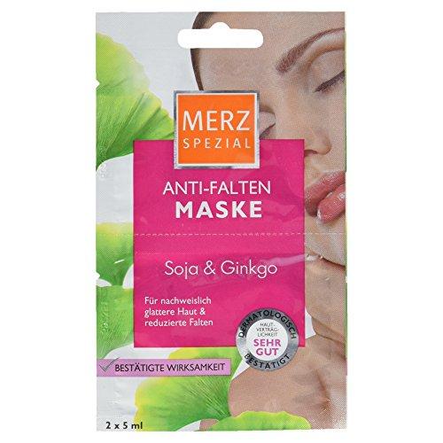 Merz Speciaal slaap je mooi masker hyaluronzuur Merz Speciaal anti-rimpel masker Soja & Ginkgo 15 x 10 ml