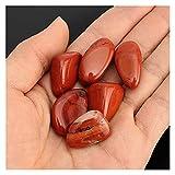 YSJJJBR Piedra Natural 6 unids 20 mm-30mm Jasper Rojo Piedras de caída de Piedra Pulida Curación de la Cura de Cristal Gems Aquarium Acuario decoración casera Ornamento Piedra Piedra