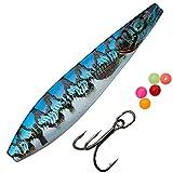 Savage Gear LT Seeker ISP - Meerforellenblinker zum Spinnangeln, Küstenblinker, Blinker für Meerforellen, Durchlaufblinker, Länge / Gewicht:9cm / 24g, Farbe:Blue Silver Pout