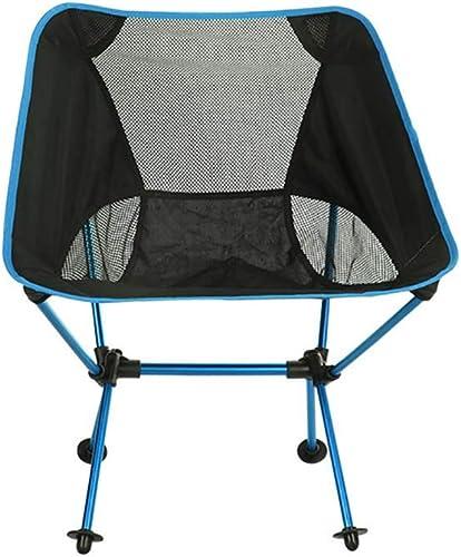 ZJING Outdoor Camping Chaise Pliante, Chaise de pêche Portable en Aluminium Ultra-léger, Chaise de Croquis Occasionnel