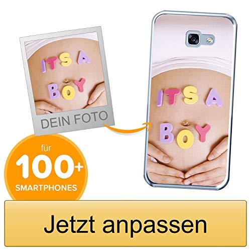 Coverpersonalizzate.it Handyhülle für Samsung Galaxy A3 2017 mit Foto-, Bildern- oder Text selbst gestalten- Die Handyhülle ist aus weichem transparentem TPU-Silikon-Gel Material