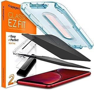 واقي شاشة من الزجاج المقوى من سبايجن [Glas.tR EZ Fit] مصمم لهواتف ايفون 11 / ايفون XR [عبوتان] - الخصوصية